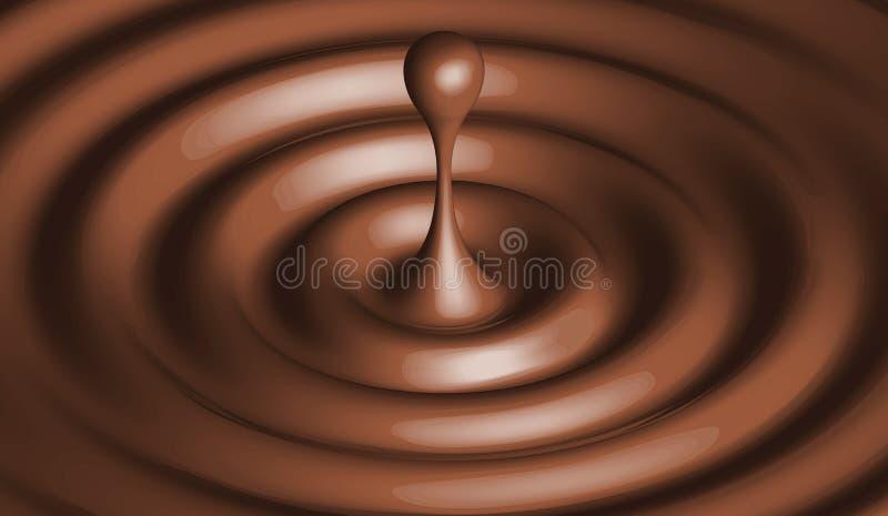 Goccia di cioccolato illustrazione di stock