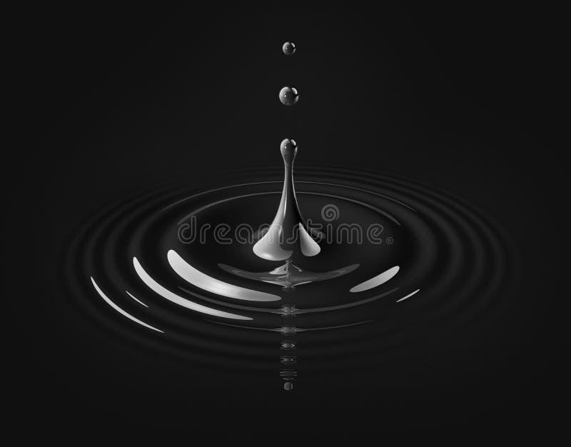 Goccia di olio e dell'ondulazione royalty illustrazione gratis