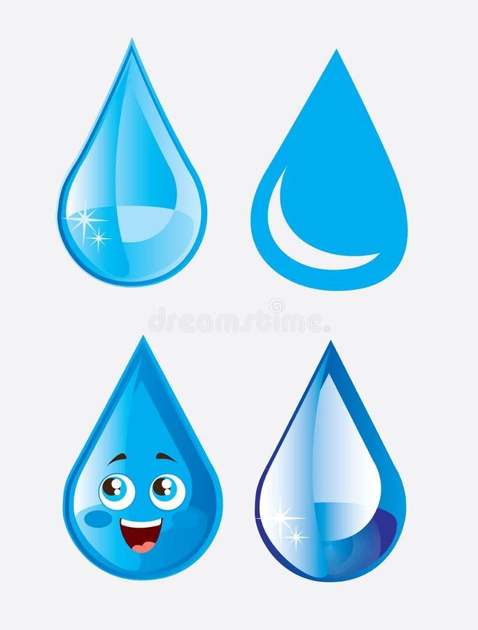 Goccia di pioggia illustrazione di stock