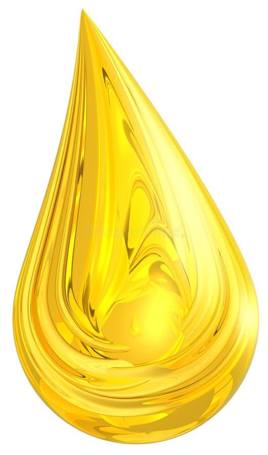 Goccia dorata illustrazione di stock