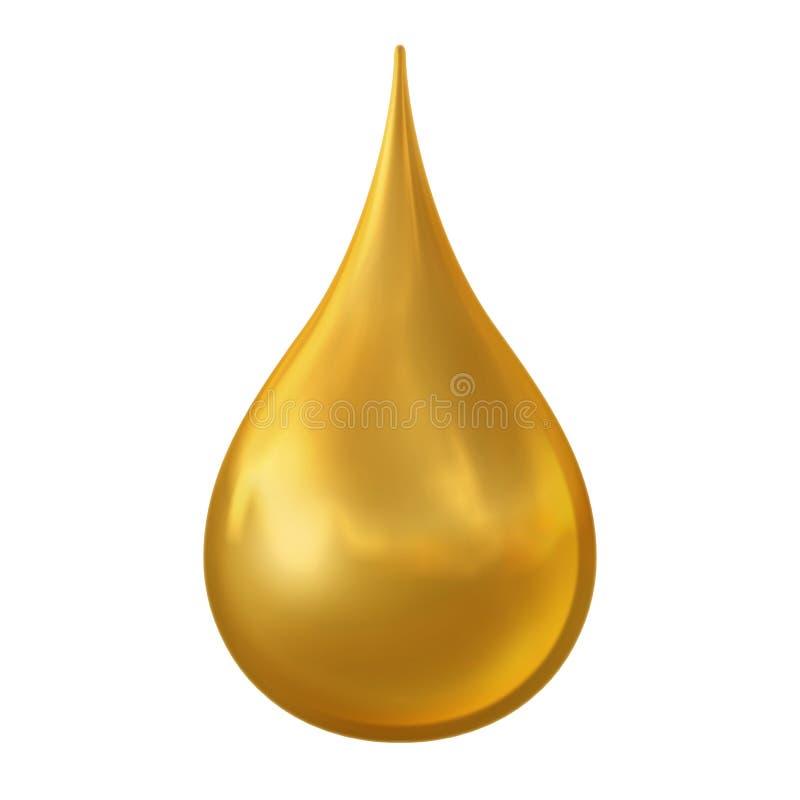 Goccia dorata illustrazione vettoriale