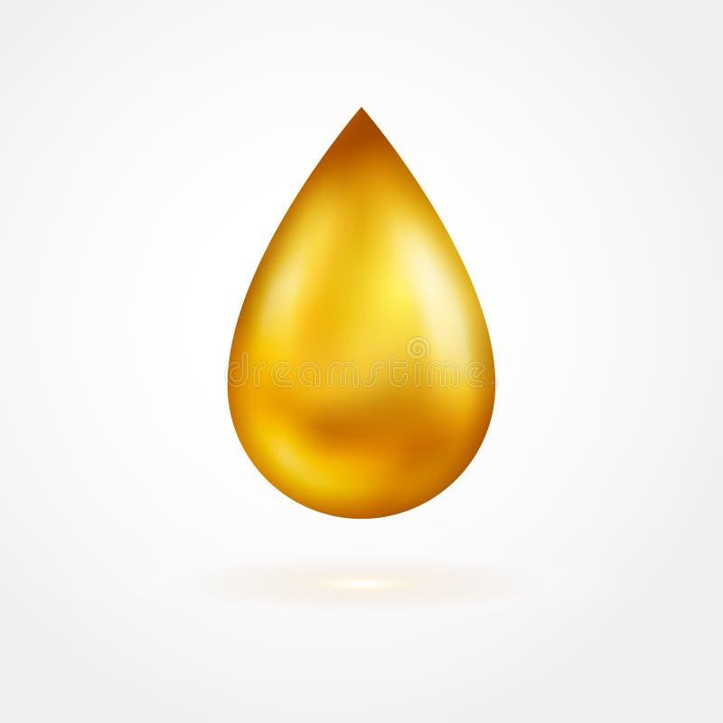 Goccia gialla dell'icona dell'olio illustrazione di stock