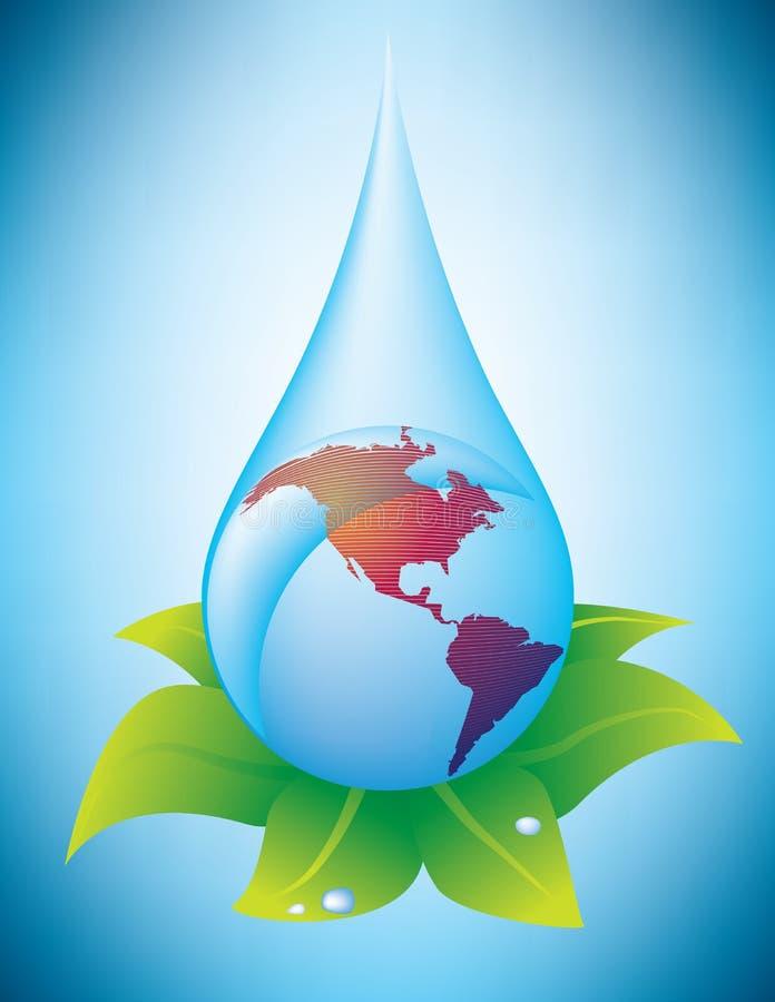Goccia globale dell'acqua illustrazione vettoriale