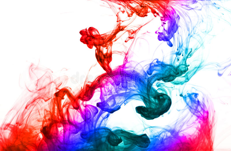 Goccia multicolore dell'inchiostro