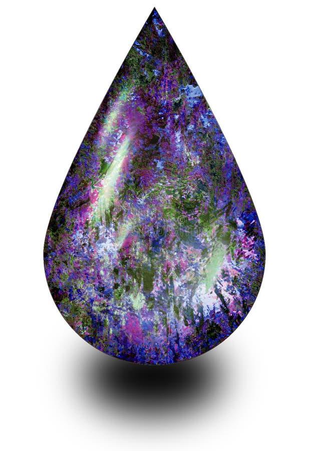 Goccia opalina illustrazione vettoriale