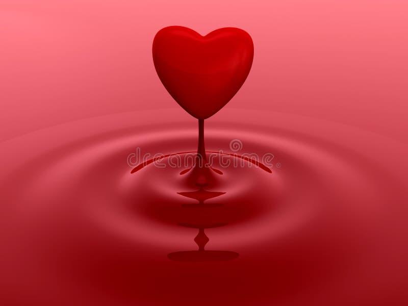 Goccia rossa del cuore illustrazione vettoriale