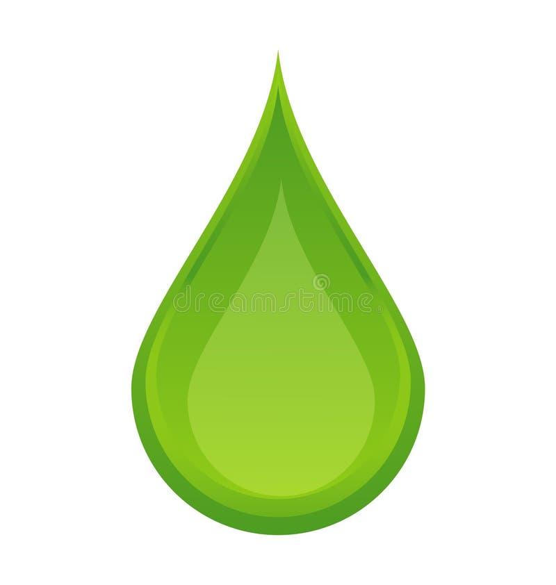 Goccia verde illustrazione vettoriale