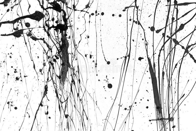 Gocciolamenti della vernice - o1 illustrazione di stock