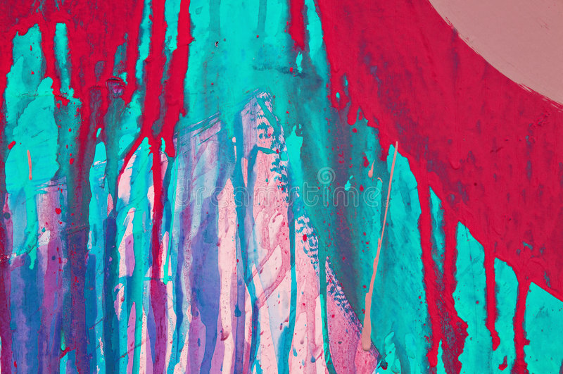 Gocciolamenti variopinti della vernice fotografie stock