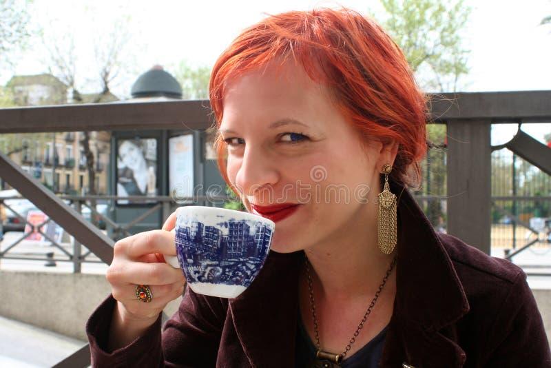 Goce del café 1 fotografía de archivo libre de regalías
