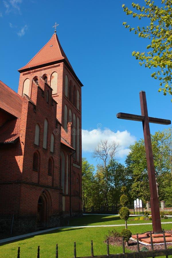 Gocka egzaltacja Święty Przecinający kościół w Gorowo Ilaweckie, Polska fotografia royalty free