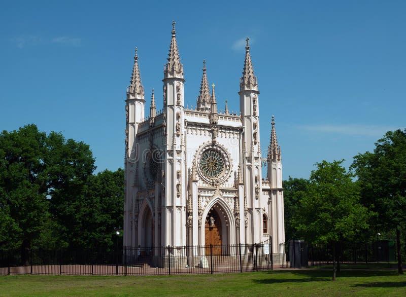 Gocka kaplica w Aleksandria, Peterhof zdjęcie royalty free