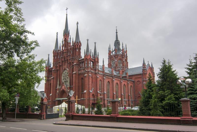 Gocka katedra Niepokalany poczęcie Święty maryja dziewica, Moskwa, Rosja obrazy stock