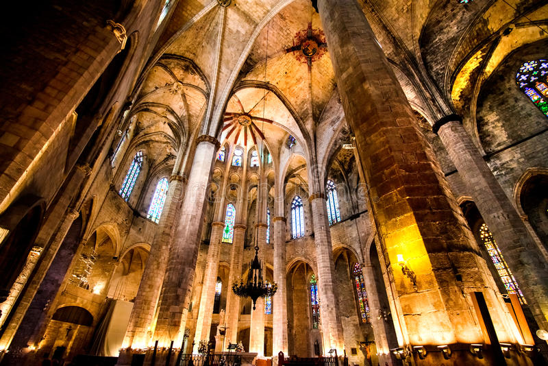 Gocka katedra w Barcelona obraz royalty free