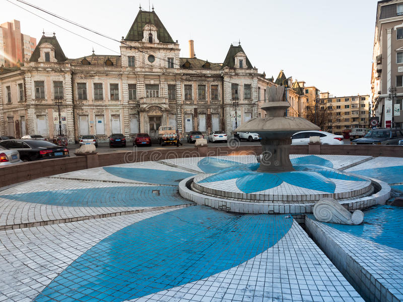 Gocka Rosyjska architektura w Dalian obraz stock