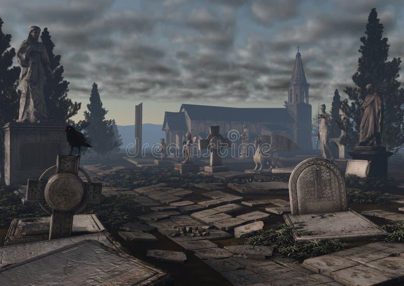 Gocki cmentarz ilustracja wektor