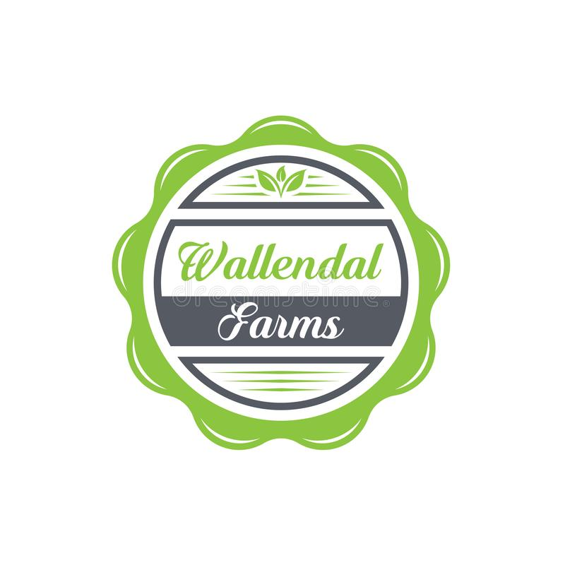 Godła projektu logo farm Wallendal royalty ilustracja