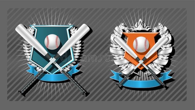 godło baseballu ilustracja wektor