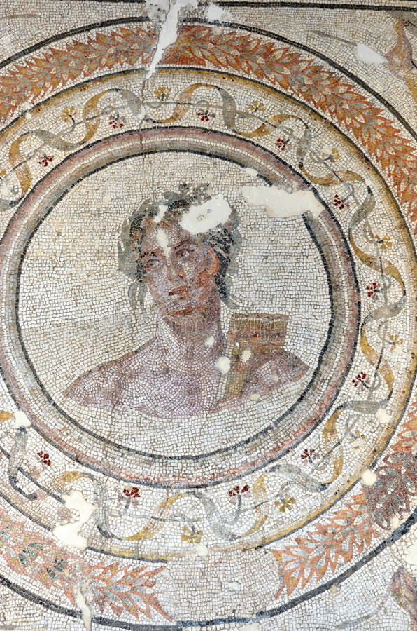 Download God Apollo stock photo. Image of mosaic, kouros, century - 26890878