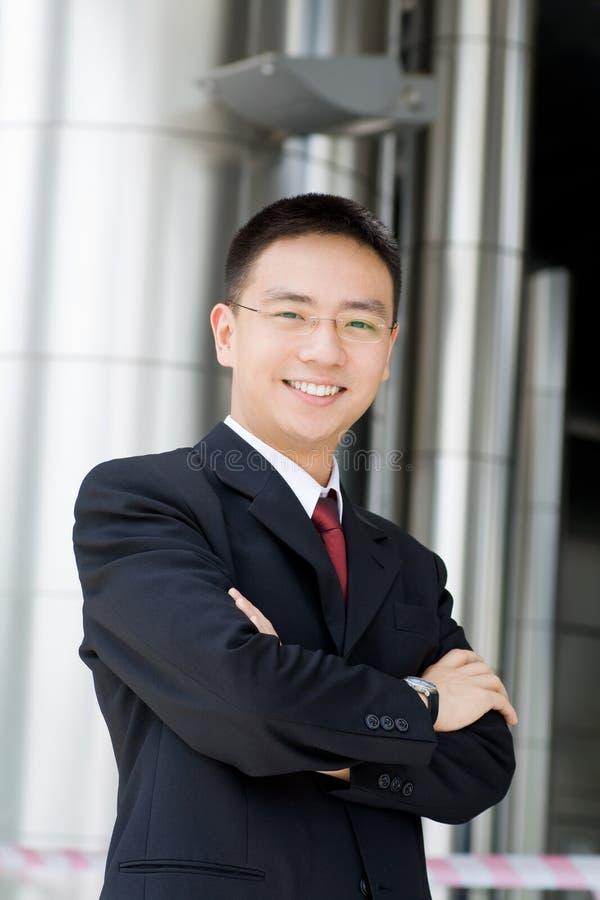 god asiatisk affär se mannen royaltyfri foto