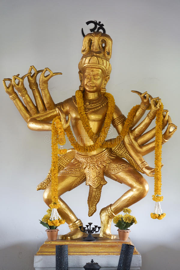 The god of brahmin. Have many hand on dance action royalty free stock image