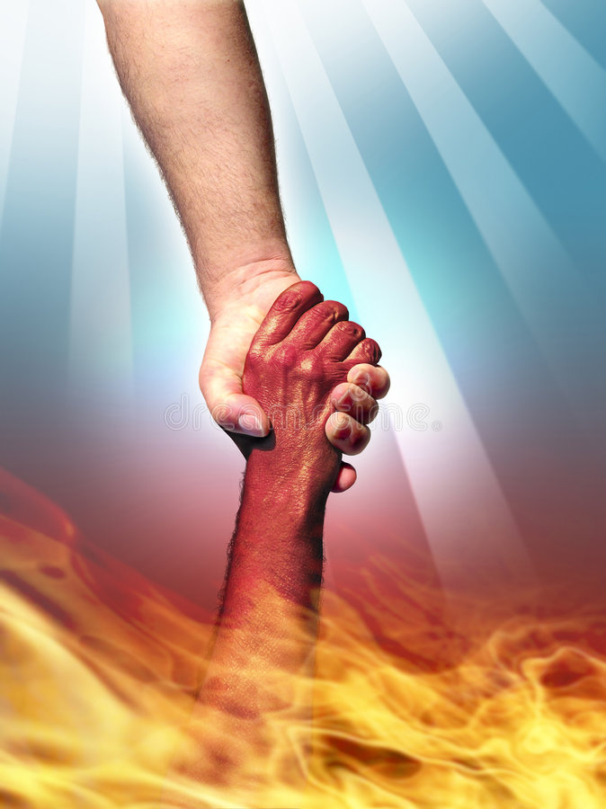 God and Devil stock photography
