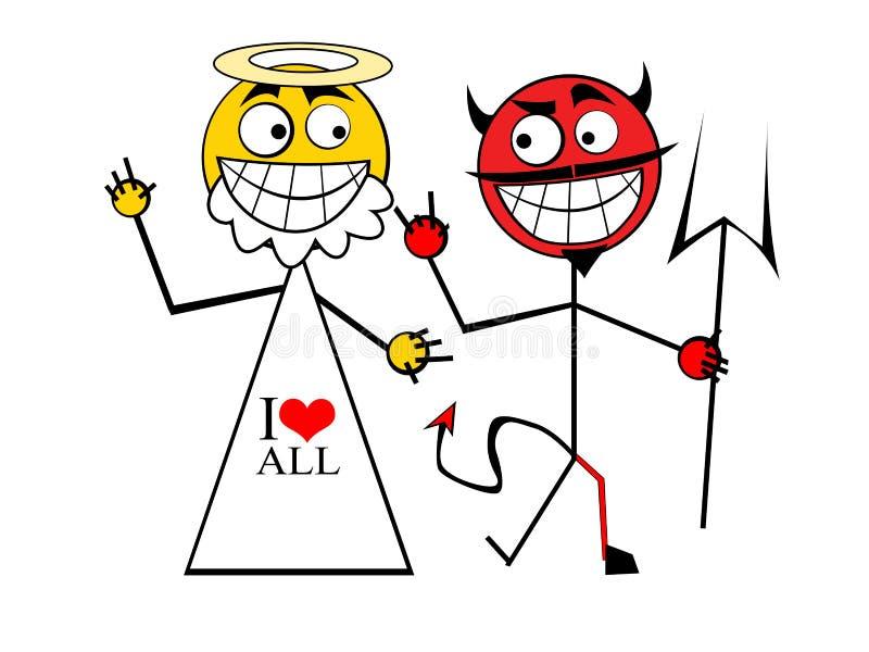 Download God with Devil stock illustration. Image of joke, death - 5671846