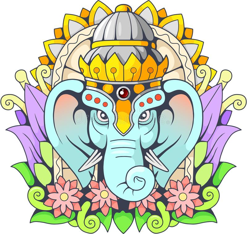 God Elephant Ganesha Illustration Stock Vector Illustration Of