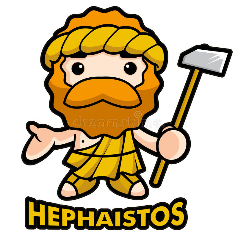 Download God of fire Hephaestus stock illustration. Image of picture - 26500029