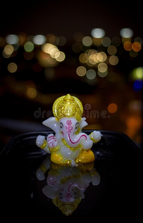 God Ganesh reflection royalty free stock photo