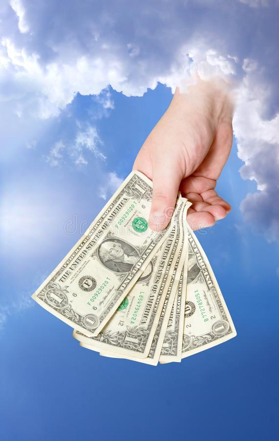 Free God Giving Money. Stock Images - 15738394