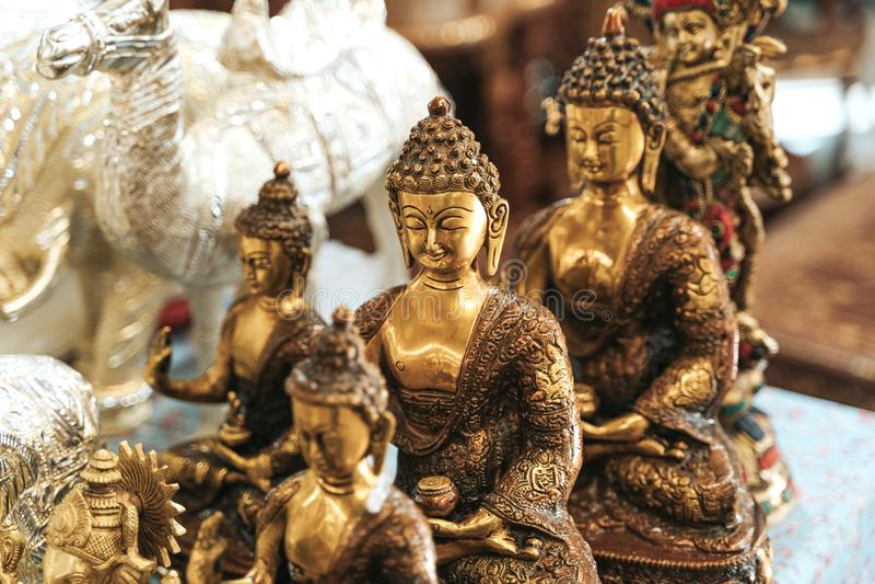 God Goutama Buddha also known as Siddhārtha Gautama. On indian market royalty free stock image