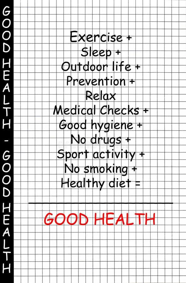 god hälsa för begrepp vektor illustrationer