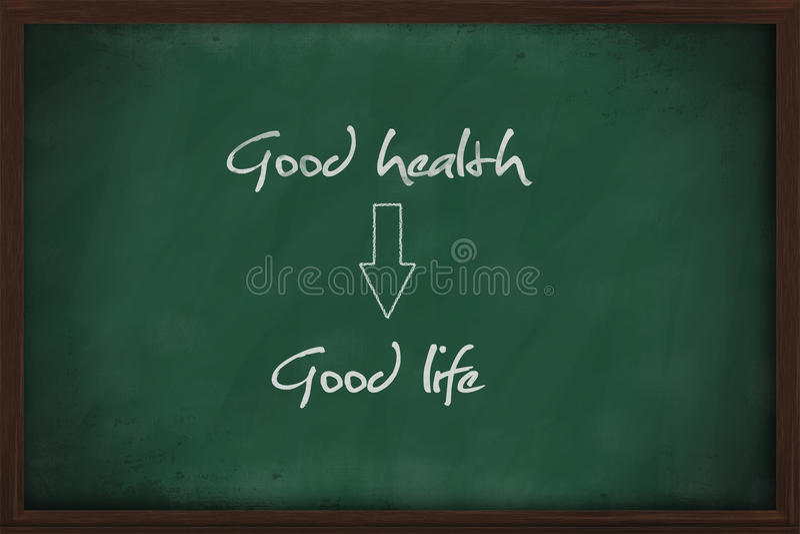 God hälsa leder till bra liv royaltyfri foto