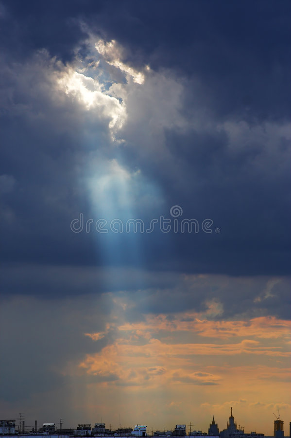 Download God Looking At The City Stock Images - Image: 3021974