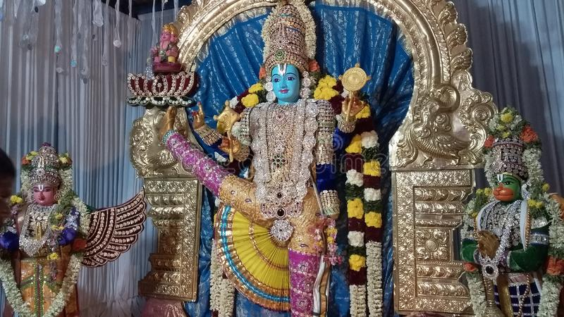 God of Lord Vishnu. This is a one of avatharam of Lord Vishnu stock photo