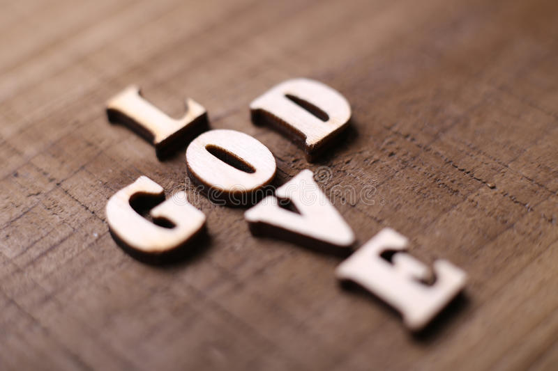 God is Love royalty free stock image