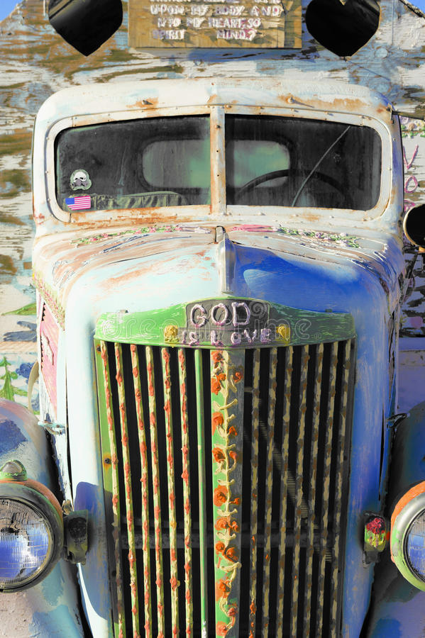 God Is Love, Salvation Mountain royalty free stock photography