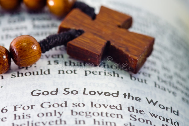 Download For God so Loved the World stock image. Image of cross - 8193441