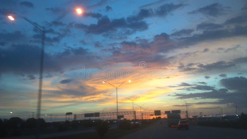 God loves the world. Sunrise, horizon, sky royalty free stock image