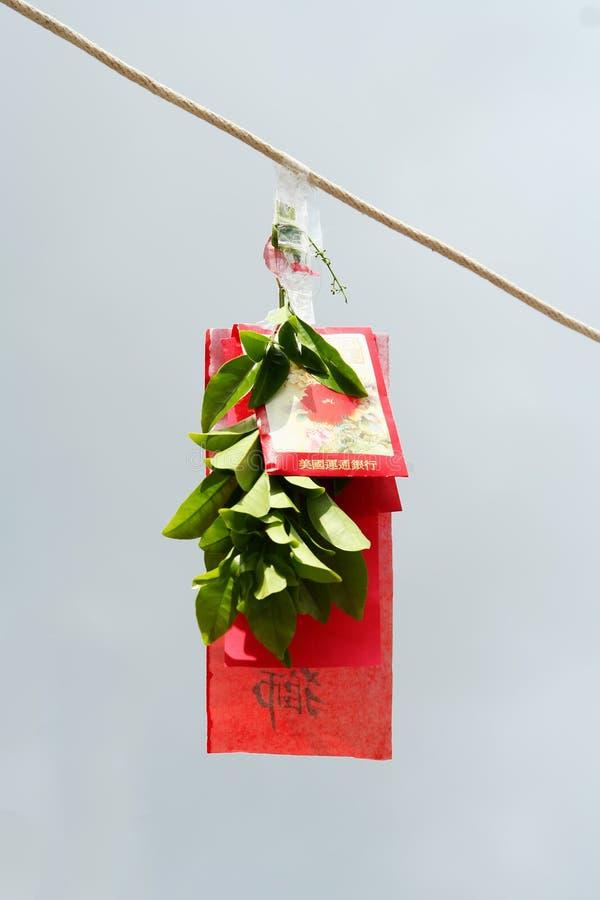 god lycka för kinesiskt kuvert arkivbild