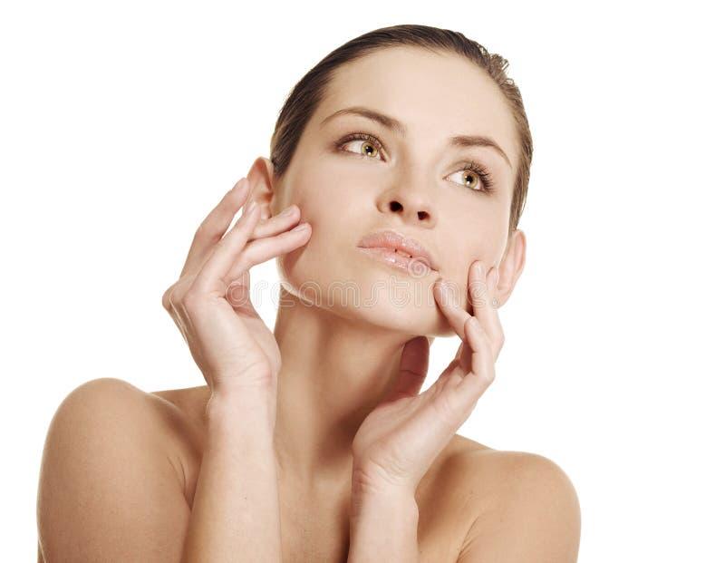god naturlig hud för skönhetflicka royaltyfri fotografi