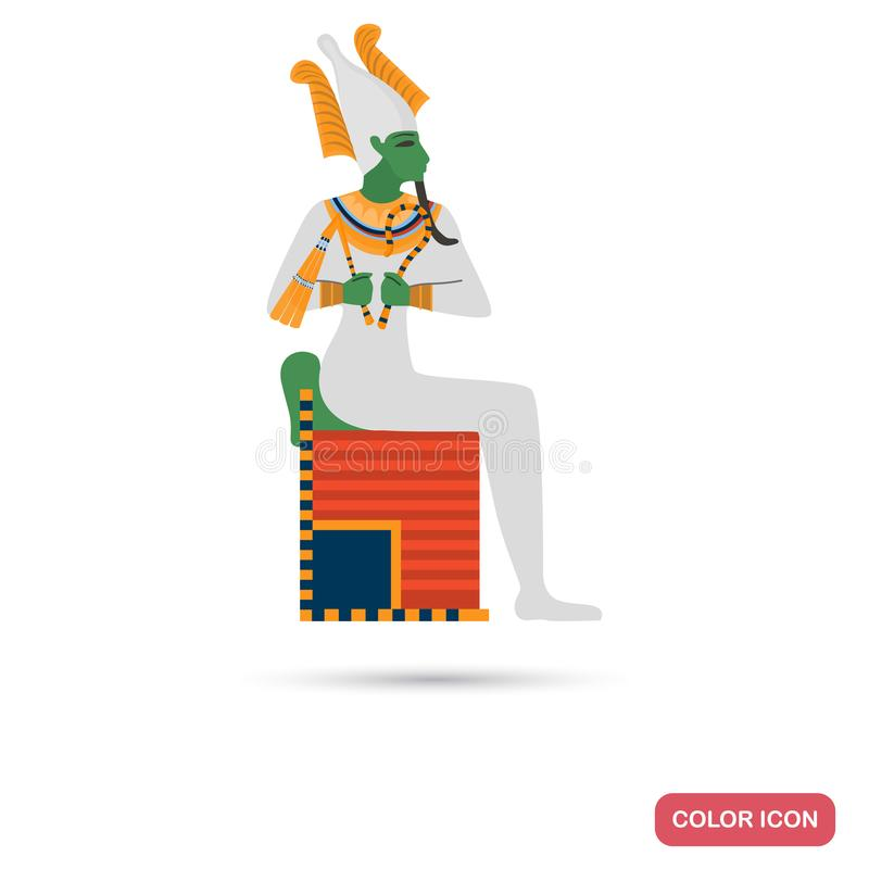 God Osiris color flat icon for web and mobile design. God Osiris color flat icon for web and mobile vector illustration