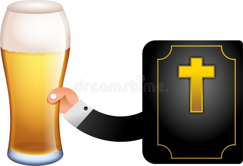 God with a pint royalty free illustration