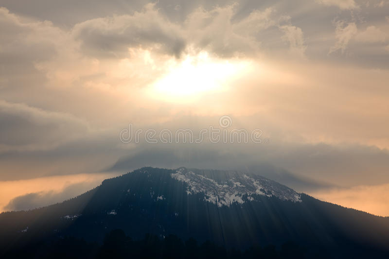 God rays royalty free stock image