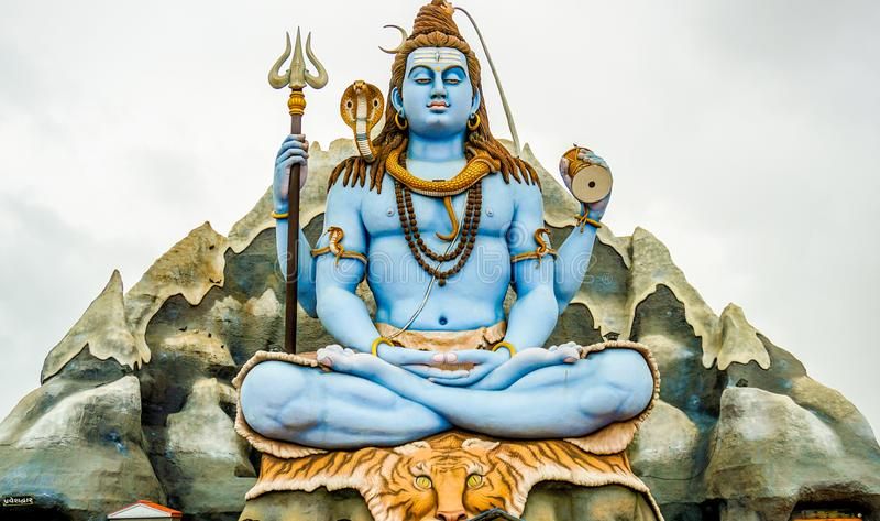 God Shiva stock afbeelding
