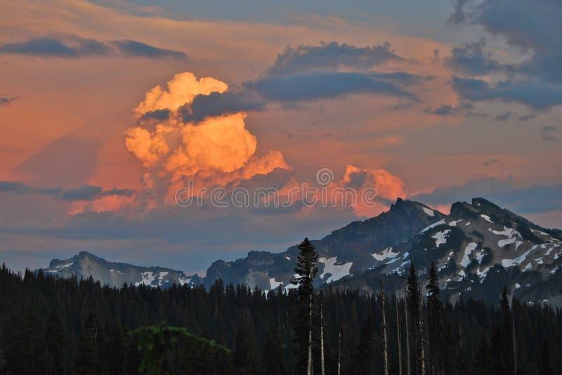 God in the Sky. Cloudburst over Colorado Mountains - God is alive stock photos