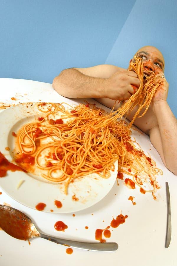 god spagetti arkivbilder
