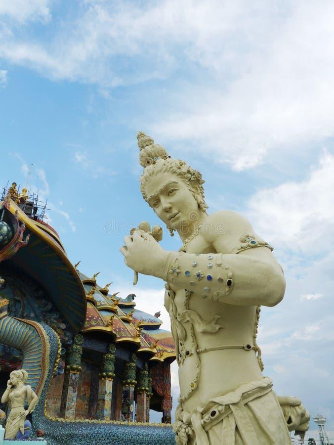 God. Statue At Ban-Rai Temple stock images