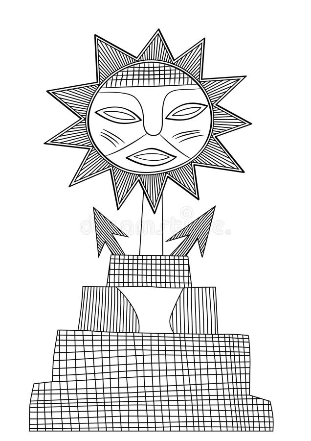 God Of Sun - Vector Royalty Free Stock Images